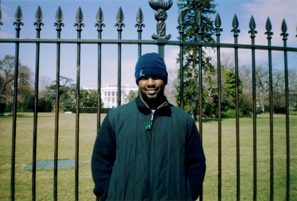 Tommy in Front of The White House