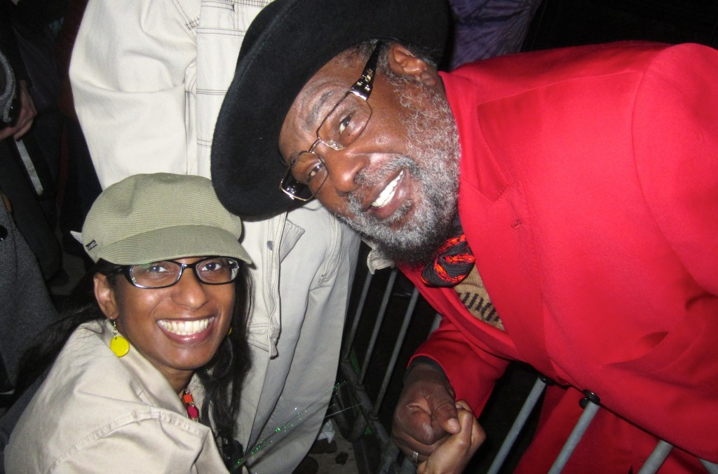 "George Clinton, ""The Atomic Dog"", stopped to talk to me."